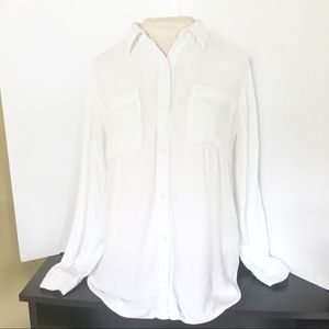 White Long-Sleeve Button Down